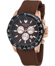 Swiss Eagle SE-9065-0B Mens Herzog marrom relógio cronógrafo