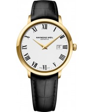 Raymond Weil 5488-PC-00300 Mens tocata pulseira de relógio de couro preto
