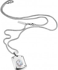 Police 25552PSS-01 colar de prata cristal cabeça dos homens com cristal swarovski