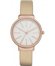 Skagen SKW2481 Ladies aveia ancher relógio com pulseira de couro