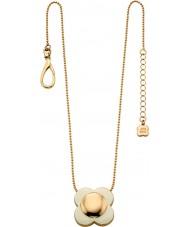 Orla Kiely N4022 Ladies Daisy Chain 18 quilates flor creme de ouro colar de pingente