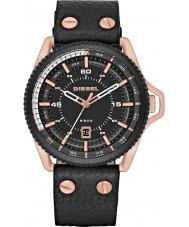 Diesel DZ1754 gaiola Mens couro preto relógio pulseira
