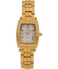 Krug-Baumen 1963DLG Tuxedo ouro 4 diamantes pulseira de ouro mostrador branco