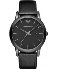 Emporio Armani AR1732 Mens couro preto clássico pulseira de relógio