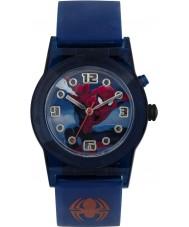 Disney SPD3425 Meninos maravilhar relógio spiderman piscar final com pulseira de silicone azul