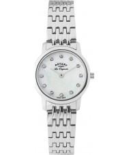 Rotary LB90016-07 Ladies les originales prata pulseira de aço relógio