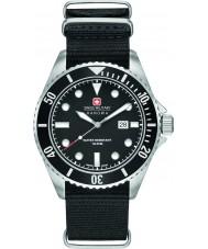Swiss Military 6-4279-04-007-07 Mens leão-marinho de nylon preto relógio pulseira