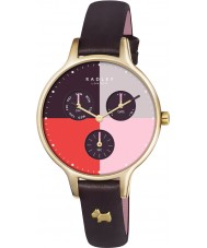 Radley RY2428 Ladies abadia cravo couro cronógrafo relógio