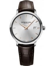 Raymond Weil 5488-SL5-65001 Mens couro tocata marrom relógio de pulseira