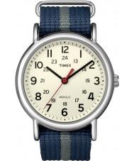 Timex T2N654 Dos homens azuis cinza weekender deslizamento através de relógio
