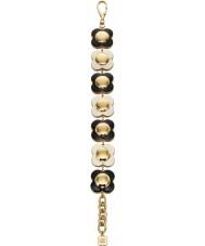 Orla Kiely B4796 Ladies Daisy Chain 18 quilates monocromático ouro pulseira de flor