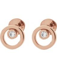 Skagen SKJ0853791 Ladies elin ouro rosa brincos folheados