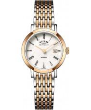 Rotary LB90155-01 Ladies les originales Windsor dois tons de ouro rosa relógio banhado