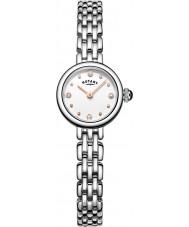 Rotary LB05052-02 Senhoras relógios cocktail de aço de prata pulseira de relógio