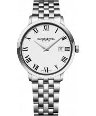 Raymond Weil 5488-ST-00300 Mens prata tocata pulseira de aço relógio