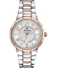 Bulova 98R162 Senhoras dois diamantes tom relógio Rosedale