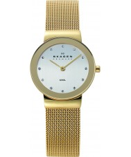 Skagen 358SGGD Ladies Klassik relógio de ouro de malha branco