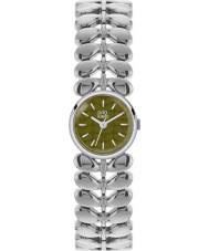 Orla Kiely OK4011 Ladies laurel prata fosco de oliva relógio de aço tom