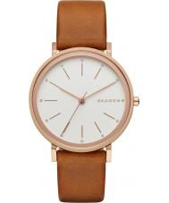 Skagen SKW2488 Ladies Hald castanho claro relógio com pulseira de couro