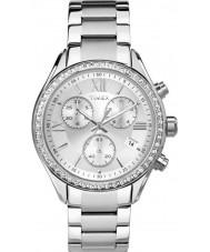Timex TW2P66800 cidade das senhoras de aço de prata pulseira de relógio