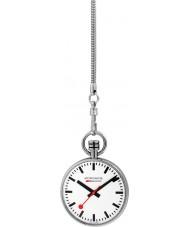 Mondaine A660-30316-11SBB Mens specials relógio de bolso de prata com corrente