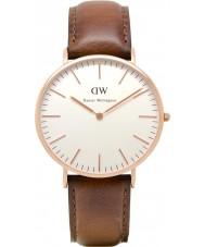 Daniel Wellington DW00100006 Mens clássico 40mm st mawes subiu relógio de ouro