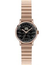 Orla Kiely OK4012 Ladies Frankie preto fosco ouro rosa relógio banhado