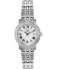 Rotary LB90090-41 Ladies les originales prata pulseira de aço relógio