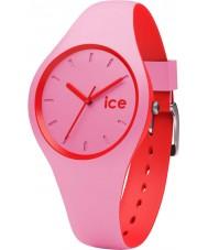 Ice-Watch 001491 duo de gelo de silicone rosa relógio de pulseira