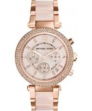 Michael Kors MK5896 Ladies parker rosa banhado a ouro relógio cronógrafo