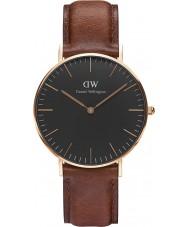 Daniel Wellington DW00100136 st relógio preto clássico mawes 36 milímetros