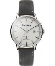 Barbour BB043WHGY Mens Whitburn cinza relógio de pulseira de couro
