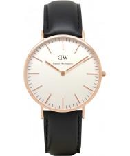 Daniel Wellington DW00100007 Mens clássico 40 milímetros Sheffield subiu relógio de ouro