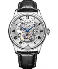 Rotary GS02940-06 relógios Mens Watch mecânica esqueleto preto prata