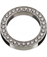Edblad 78841 Ladies quadrada de aço anel eternidade - tamanho s (XL)