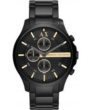 Armani Exchange AX2164 tudo relógio de vestido cronógrafo preta dos homens