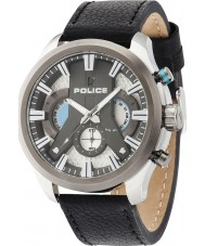Police 14639JSTU-04 ciclone Mens couro preto relógio pulseira