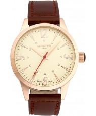 Minster 1949 MN01CRRG10 Mens crofton marrom relógio de pulseira de couro