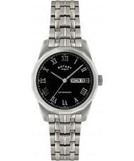 Rotary GB02226-10 relógios Mens relógio de prata preto