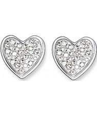 Thomas Sabo H1863-051-14 Senhoras zircônia pavimentar coração brincos de prata