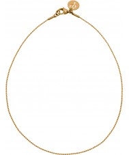 Edblad 31630142 Ladies charmentity ballchain banhado a ouro cadeia longa