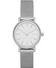 Skagen SKW2441 Ladies Hald de aço pulseira de prata malha relógio