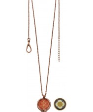 Orla Kiely N4019 Ladies Camille 18 quilates rosa colar de pingente de ouro reversíveis