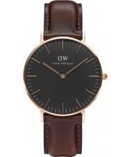 Daniel Wellington DW00100137 relógio de 36 milímetros Bristol clássico preto