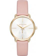 Michael Kors MK2659 Senhoras Portia couro rosa relógio de pulseira