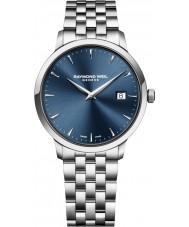 Raymond Weil 5488-ST-50001 Mens prata tocata pulseira de aço relógio