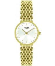 Rotary LB00900-01 Senhoras relógio de ouro chapeado