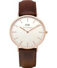 Daniel Wellington DW00100009 Mens clássico 40 milímetros Bristol subiu relógio de ouro