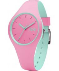 Ice-Watch 001493 duo de gelo de silicone rosa relógio de pulseira