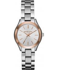 Michael Kors MK3514 Senhoras mini-pista fino relógio de aço de prata